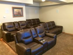 Lower Level - Theatre Room - Reclining Stadium Seating